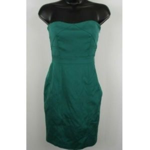 Vera Wang Turquoise Strapless Cocktail Dress